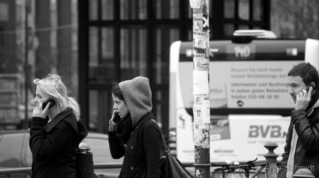Busy people - Berlin Potsdamer Platz, 2011