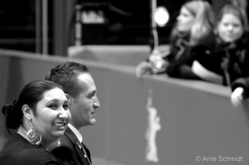 "Red Carpet: Actors Senada Alimanovic and Nazif Mujic present ""An Episode in the Life of an Iron Picker"" - 63rd Berlinale, Berlin, February 2013"