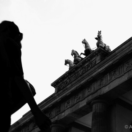 People and Stones - Brandenburg Gate, Berlin Mitte-Tiergarten, July 2012