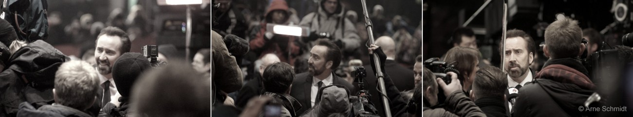 The Face - Nicolas Cage on the red carpet of 63rd Berlinale, February 2013