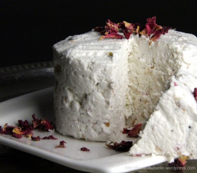Goat's Milk Paneer with Roses