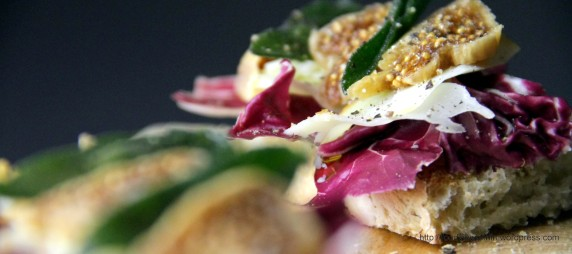 Ciabatta with Radiccio, Scamorza and Figs
