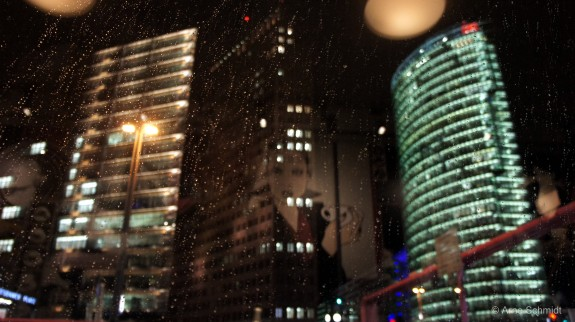 Potsdamer Platz in the Rain - Berlin, February 2013