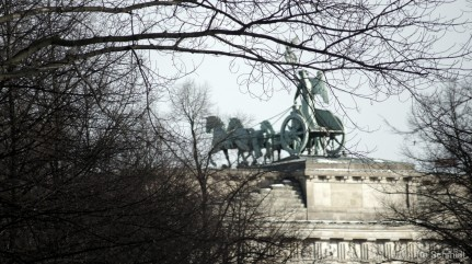 Horses - Quadriga on Brandenburg Gate, Berlin Mitte-Tiergarten, January 2013