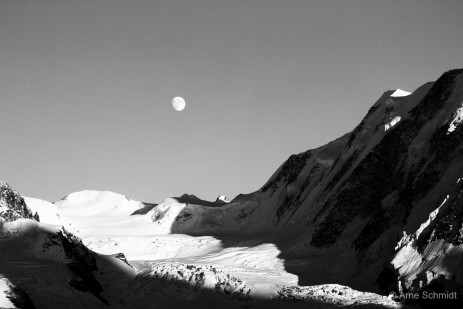 Grenzgletscher and Liskamm - Swiss Alps, August 2010