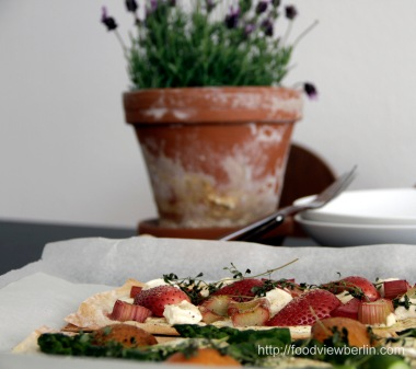 Filo Tarte with Spring Fruits and Vegetables