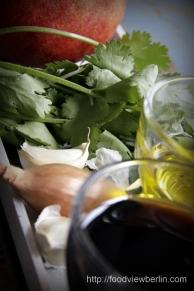 Ingredients for Lebanese-style seitan