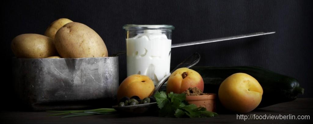 Ingredients for potato salads