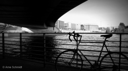 Urban Bicycle Ride - Bridge near main station, Berlin Mitte, June 2013