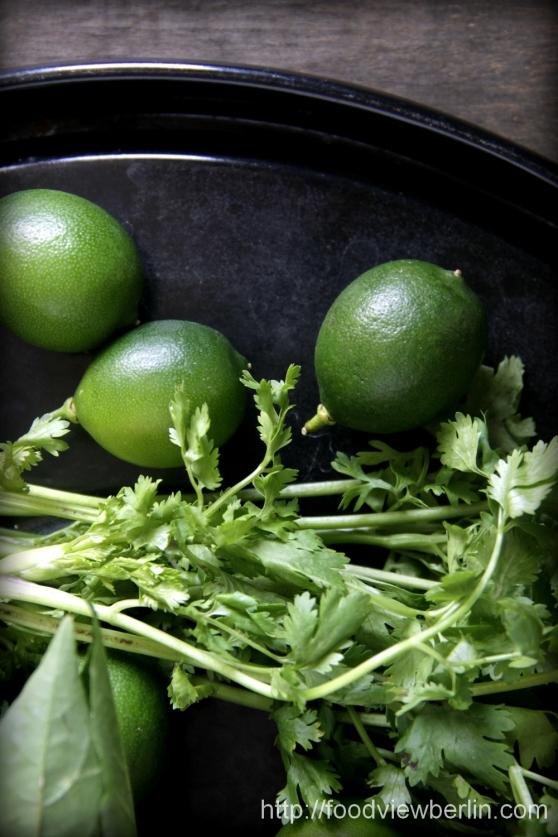 Limquats & cilantro