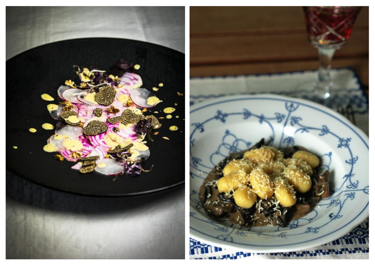 Left photograph: © Dinner um Acht Right photograph: © Mangoseele