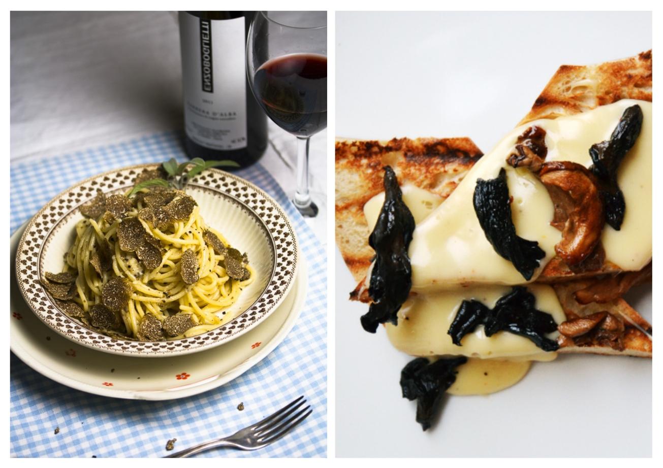 Left photograph: © Dinner um Acht Right photograph: © Mittag bei Mutti