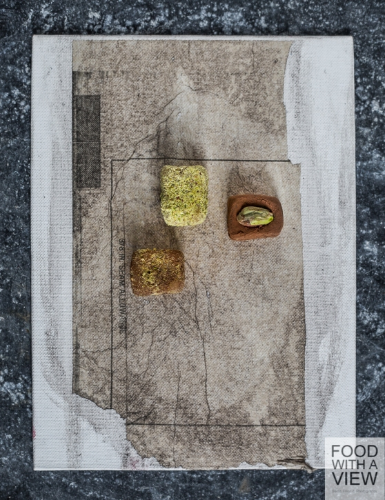 Canvas by Constance Schrall @ BLO Ateliers with nougat & marzipan pralines