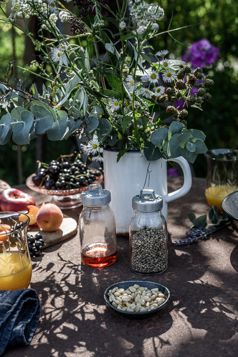 garden, breakfast, summer, vintage