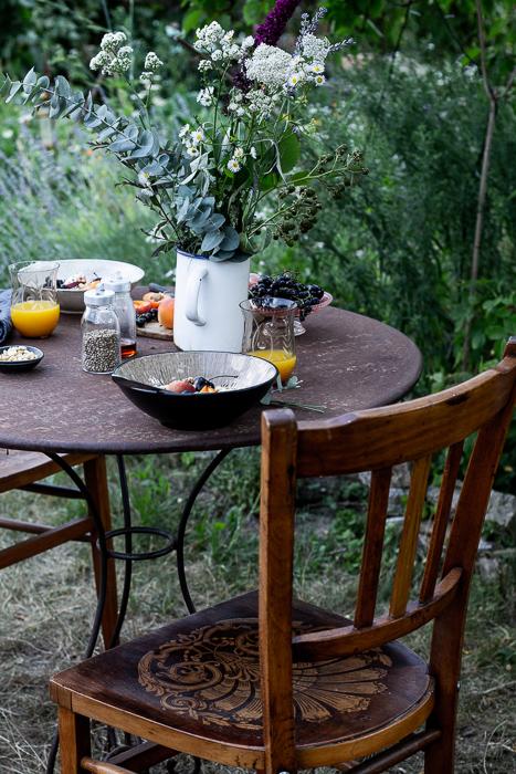 garden, breakfast, summer, vintage