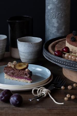 Mousse au chocolat, cake, aquafaba, vegan