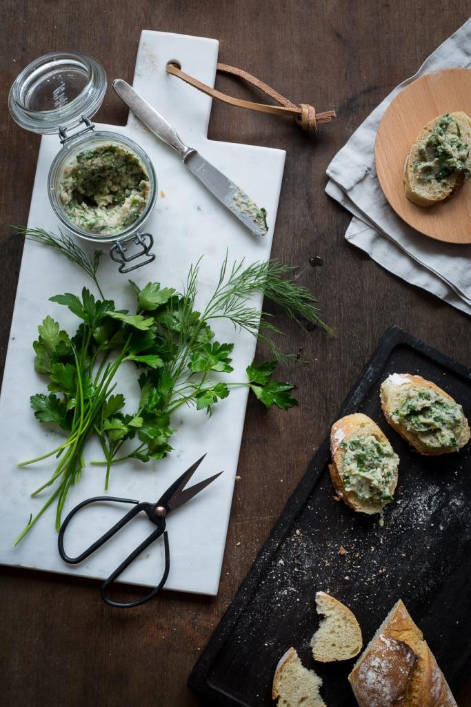 herbs, butter, vegan, gruenkern
