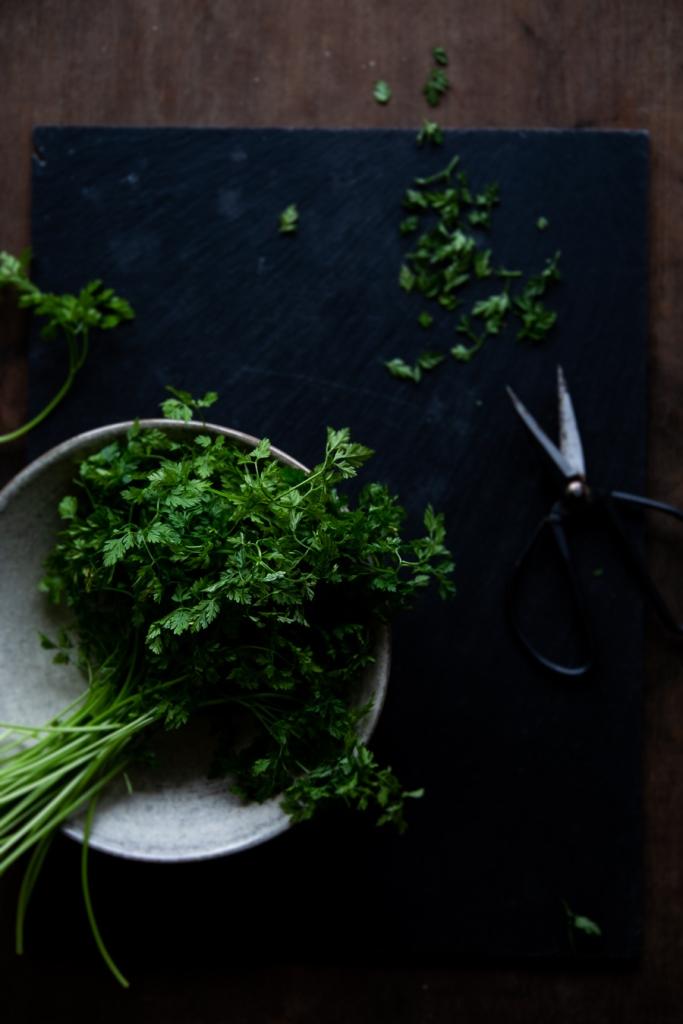 herbs, chervil, kerbel, kraeuter