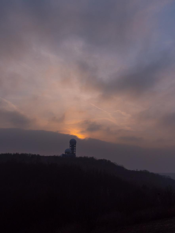teufelsberg, berlin, sunset, sonnenuntergang, winter