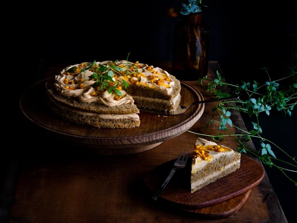 Vegan Layer Cake Sea-Buckthorn